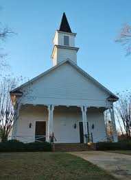 Lowndesboro Baptist Church, Lowndesboro, Alabama ca. 1888 - with two doors for men and women