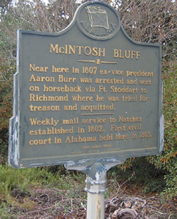 McIntosh Bluff - aaron burr