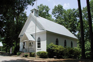 Old Country Church at Tannehill State Park, built 1905 was Kimbrell Methodist, Eastern Valley Road