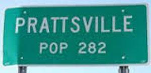 Prattsville sign