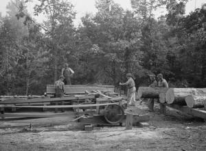 Skyline Farms sawmill 1935