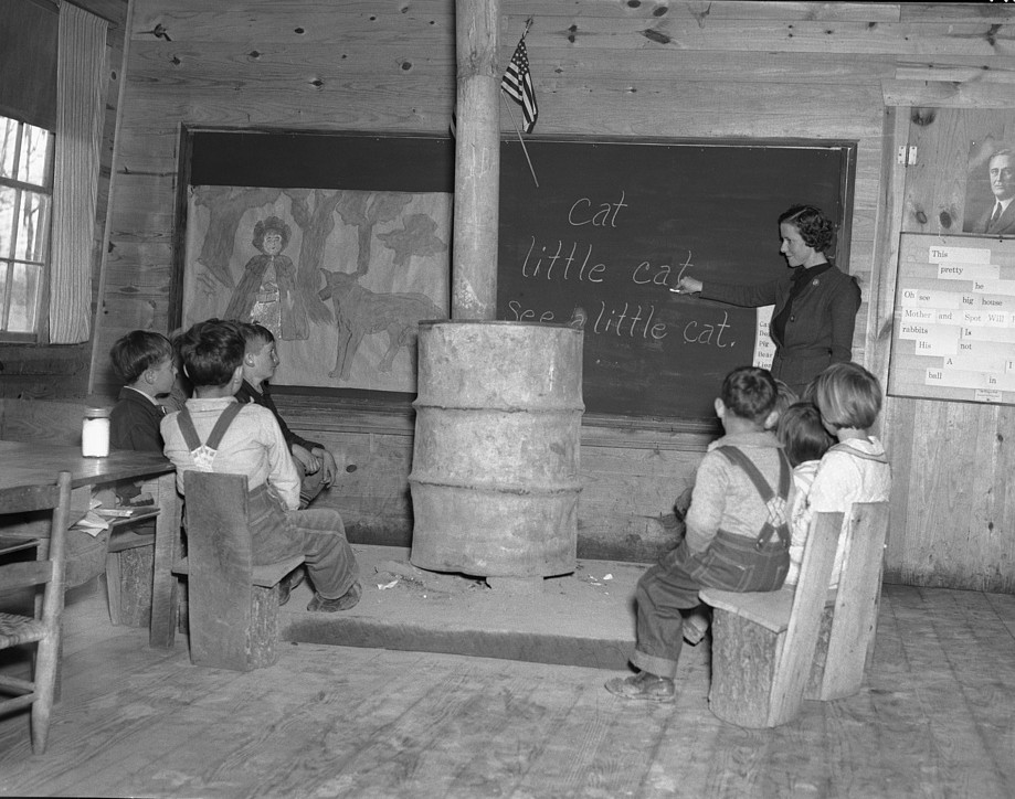 We went to a three month school with a pot-bellied stove in Wilcox County, Alabama