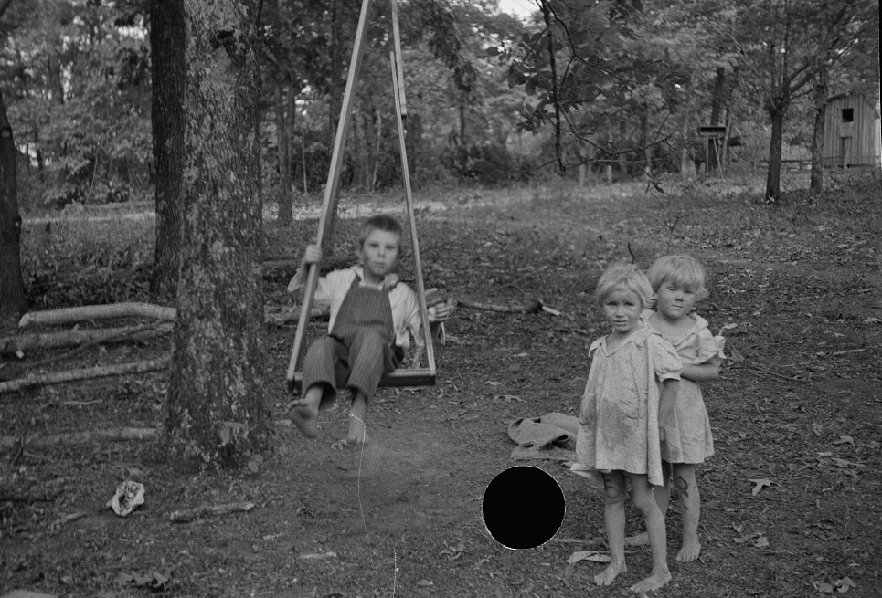 Skyline farms 1935 - children and swing