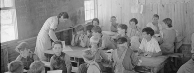 Schools have changed in many ways since these days when life was so much simpler - Notice how the teachers are dressed [old photographs] Skyline Farms - Part 5