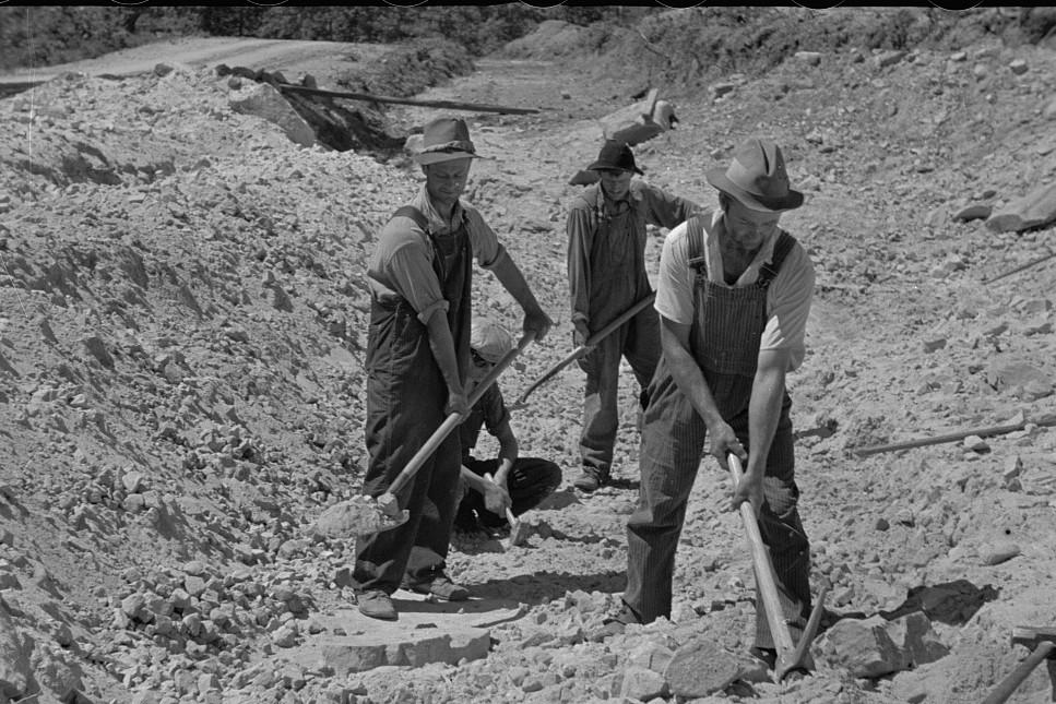 Skyline farms - sand pit 1935