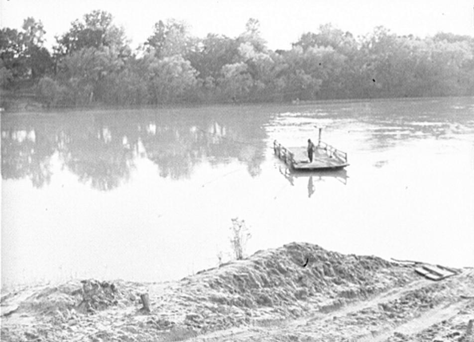 1939 Ferry in water