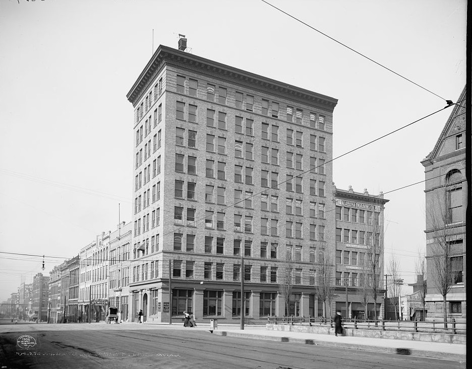 Title Guarantee Land and Trust Bldg., Birmingham 1906 photo taken by Detroit Publishing Company