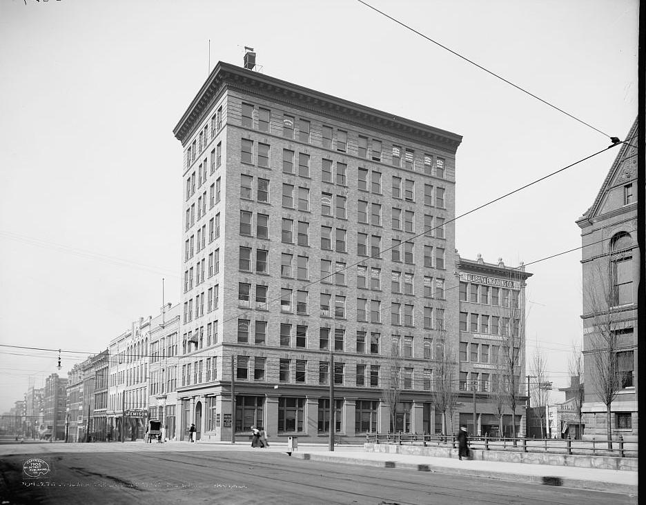 Title Guarantee Land and Trust Bldg., Birmingham 1906 photo taken by Detroit Publishing Company