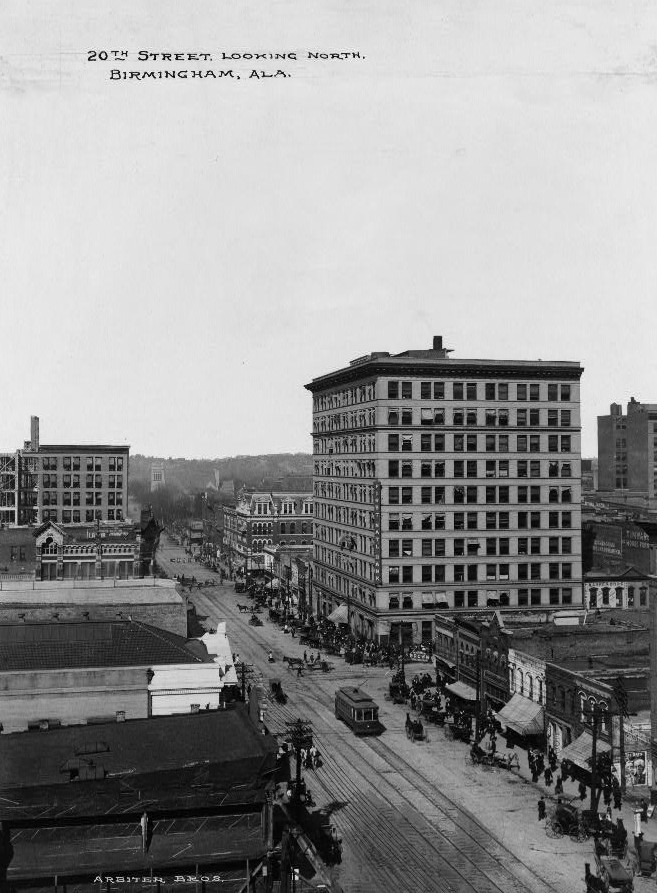 Birmingham, Twentieth-street looking north 1906 photo taken by Detroit Publishing
