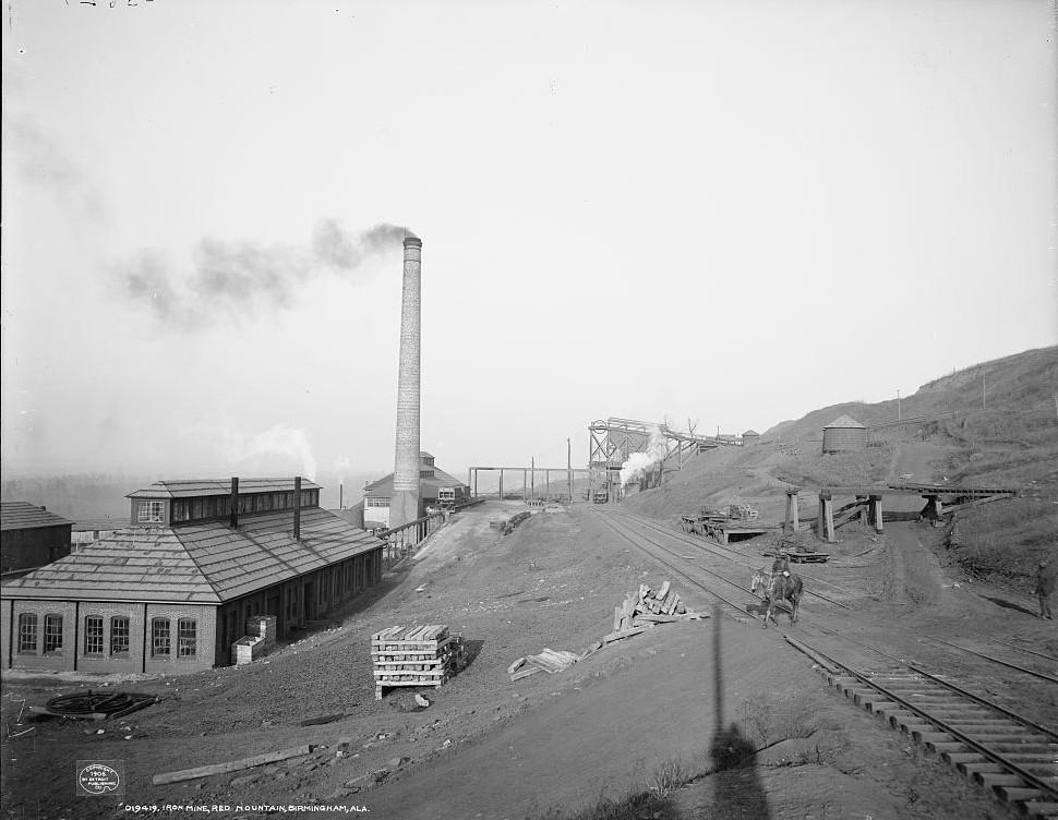 Birmingham Iron Mine 1906, photo taken by Detroit Publishing Company