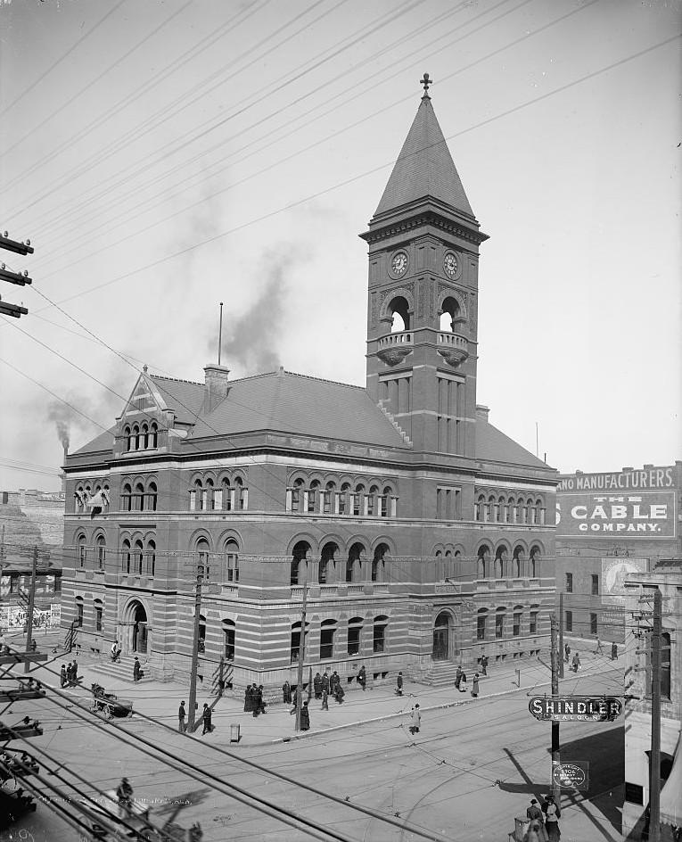 Birmingham post office 1905 - photo by Detroit Publishing Company