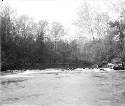 Brierfield, Broken dam on the Little Cahaba River, where iron was made before the Civil War