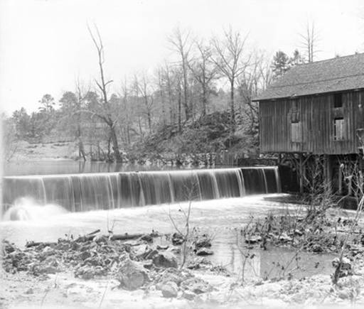 Brierfield Grist Mill on Mahan Creek, photo taken ca. 1890
