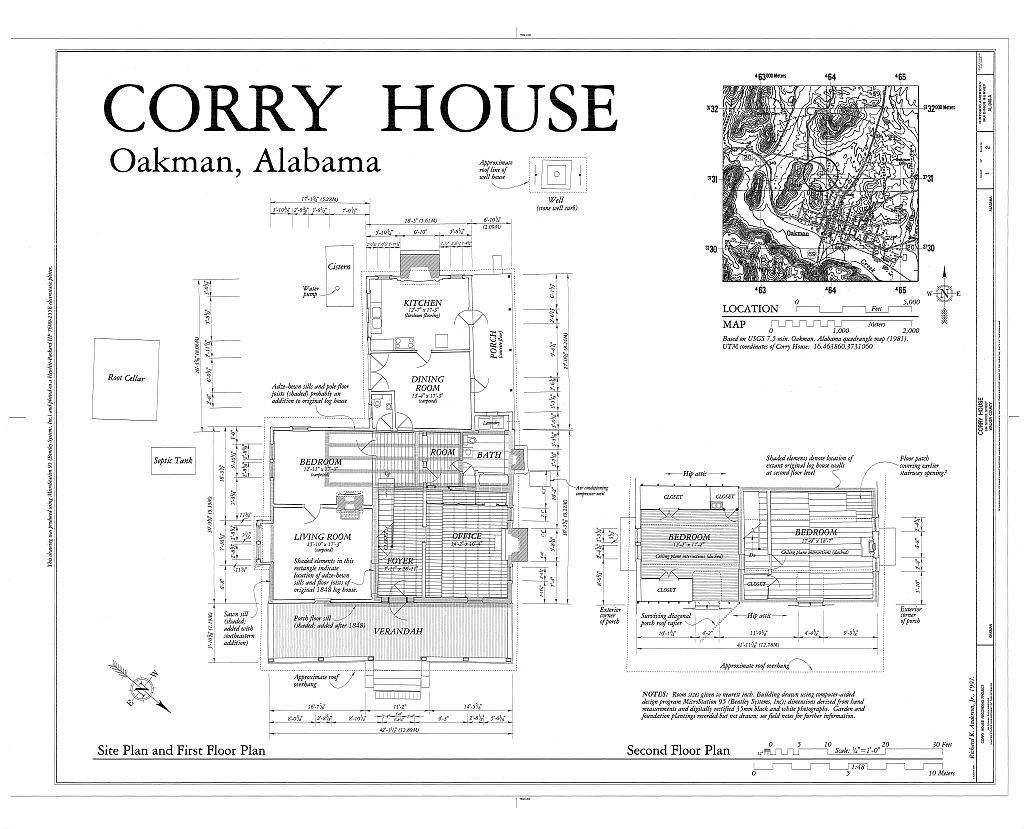 Corry homestead plans