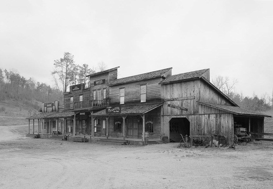 Exterior of Saloon in the past