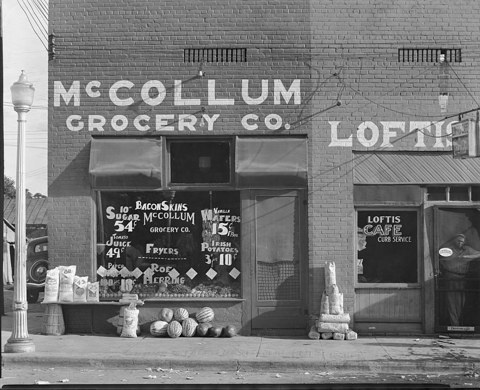 McCollum Grocery Store, Greensboro, Hale County, Alabama 1936