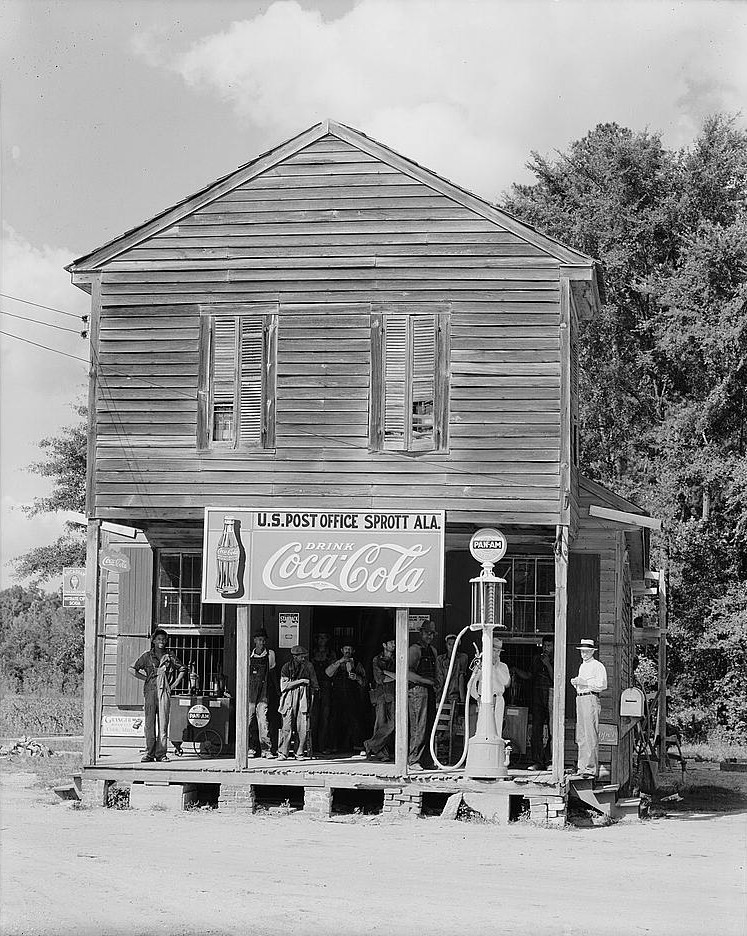 Grocery Store in Sprott, Perry County, Alabama 1936