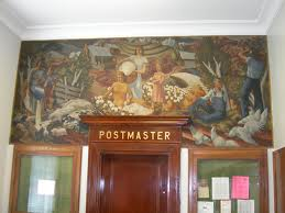 Old Post Office mural in Oneonta, Alabama