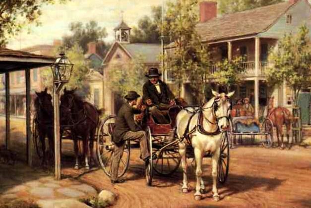 buggy ride ca. 1860