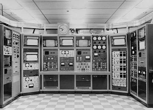 old computer control room