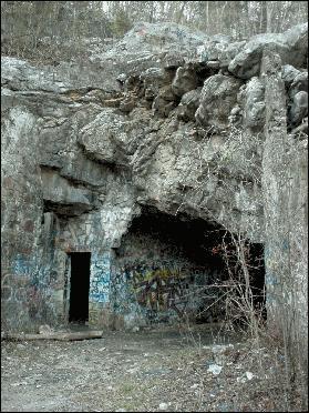 Bangor cave entrance
