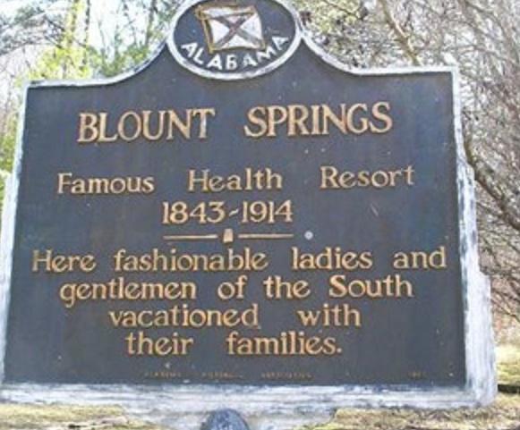 Blount Springs waymarker