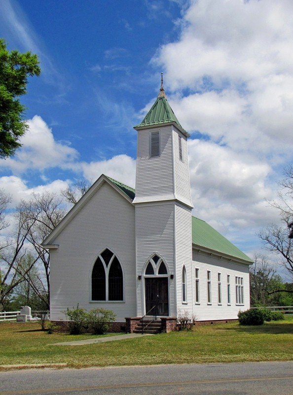 The Burnt Corn Methodist Church, founded in 1913, is located on the south end of town.