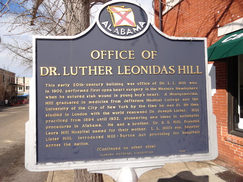 Dr. hill historic marker