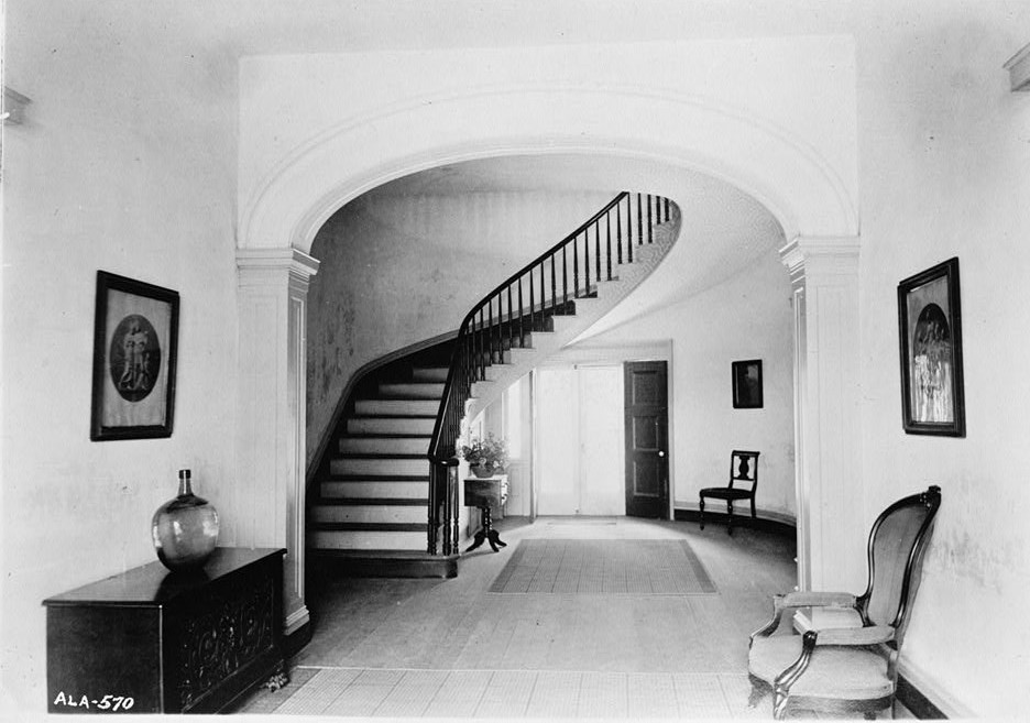 Glennville plantation21 GENERAL VIEW OF HALL AND STAIRWAY