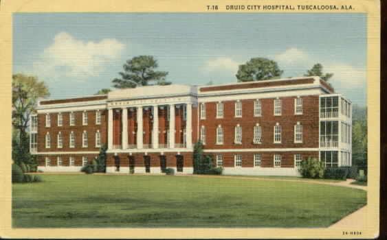 druid city hospital 1950's