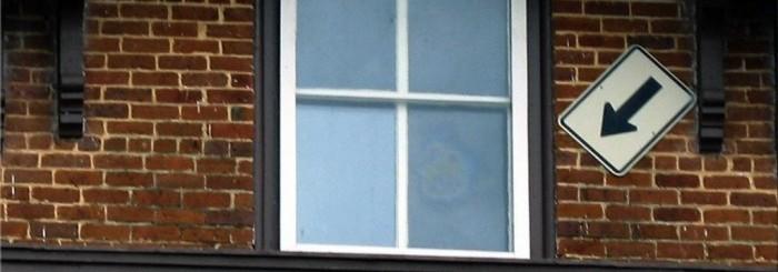 face in window