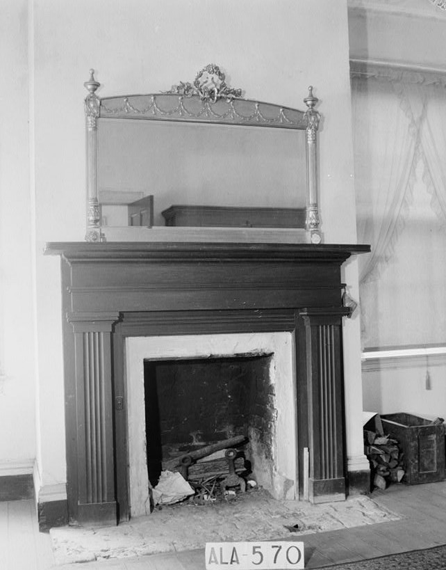 glennville plantation14MANTEL IN S.E. ROOM, UPSTAIRS - Elmoreland