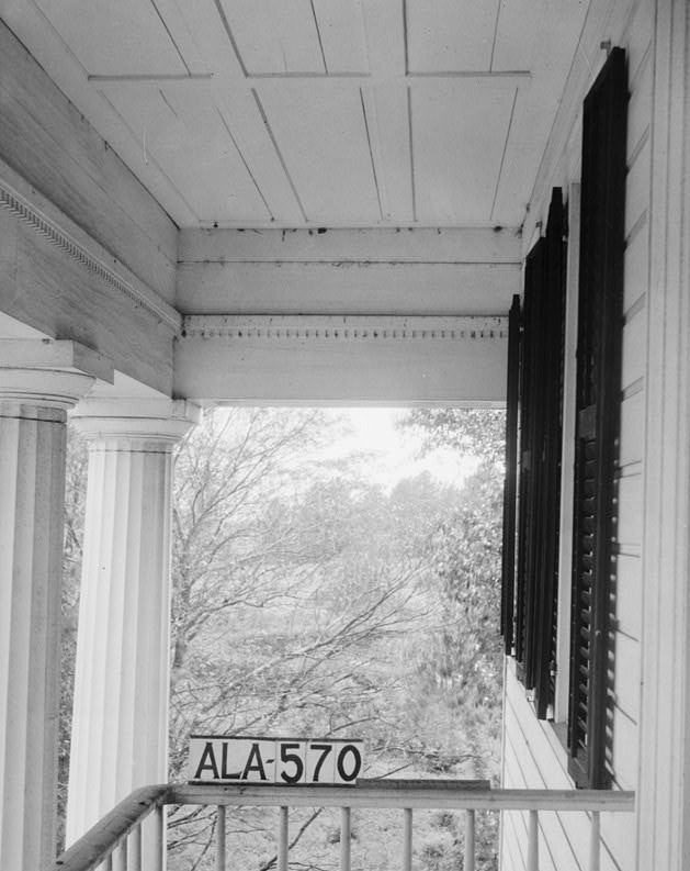 glennville plantation6 April 17, 1936 VIEW OF SOUTH END OF FRONT PORCH