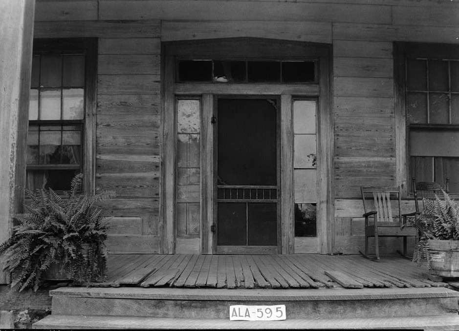 Berry - Braswell House, Front Door - June 15, 1935