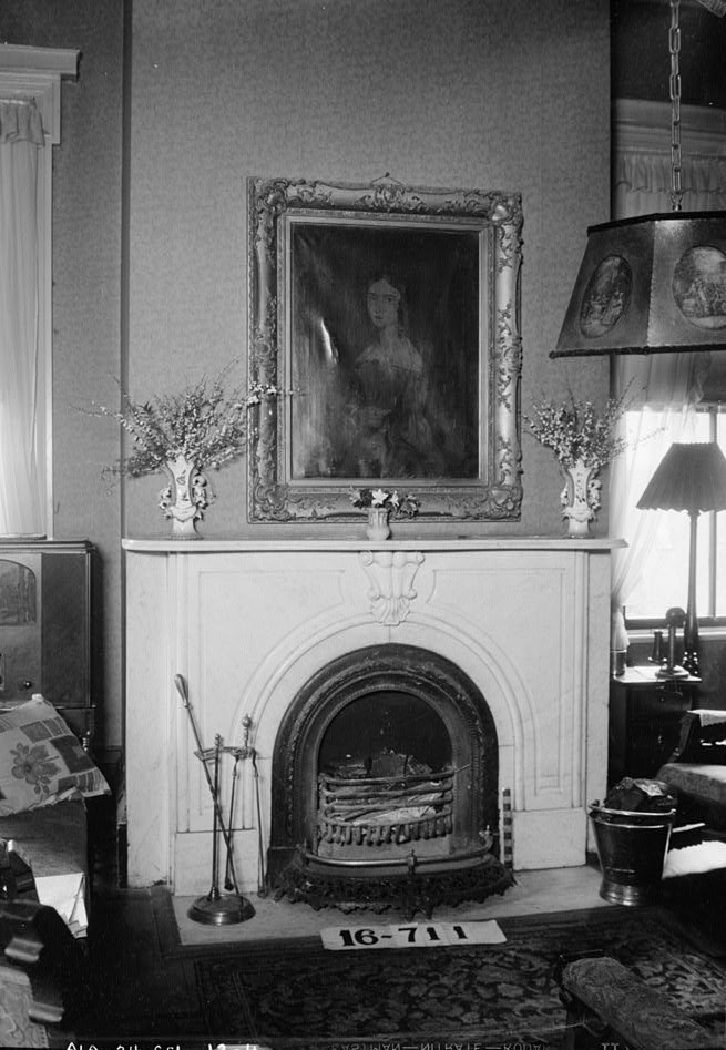 Dawson vaughan fireplace and mantel in living room 1935 alex bush