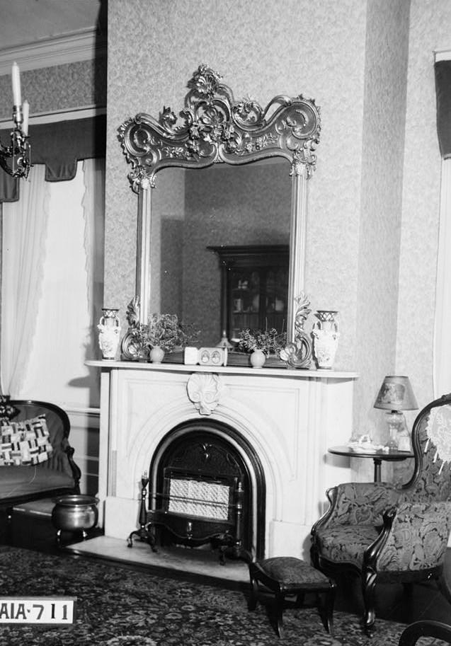 Dawson vaughan fireplace front parlor alex bush 1935