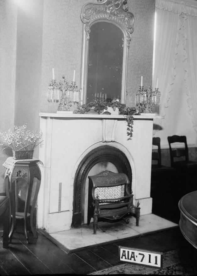 Dawson vaughan fireplace in dining room 1935 alex bush