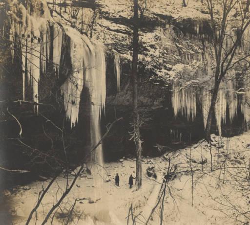Frozen waters of Falling Rock Falls near Montevallo, Alabama