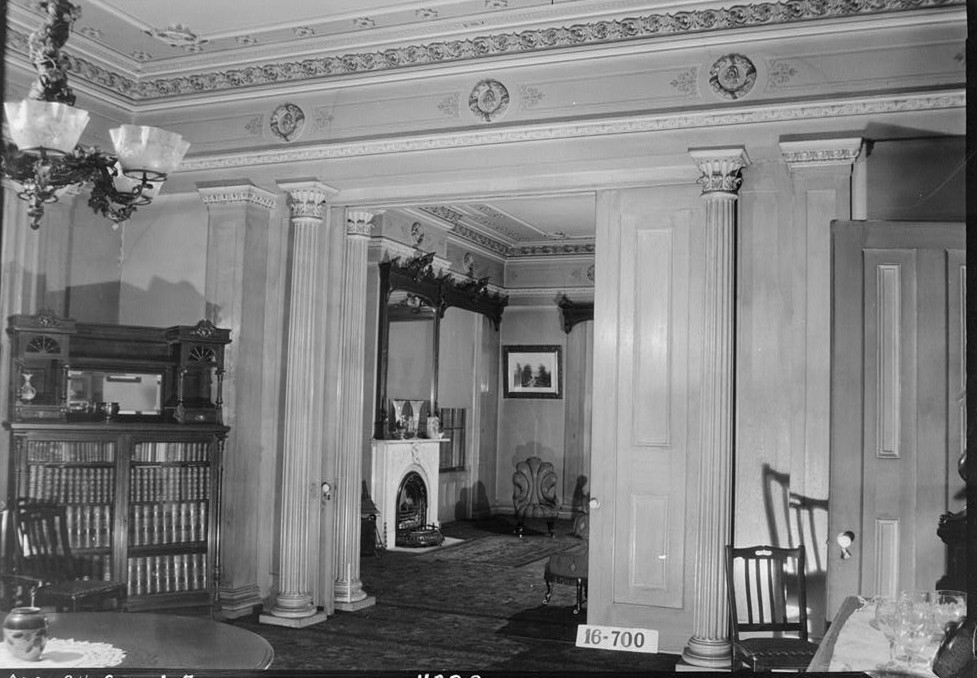 Sturdivant Hall 1934 Dining room toward parlor