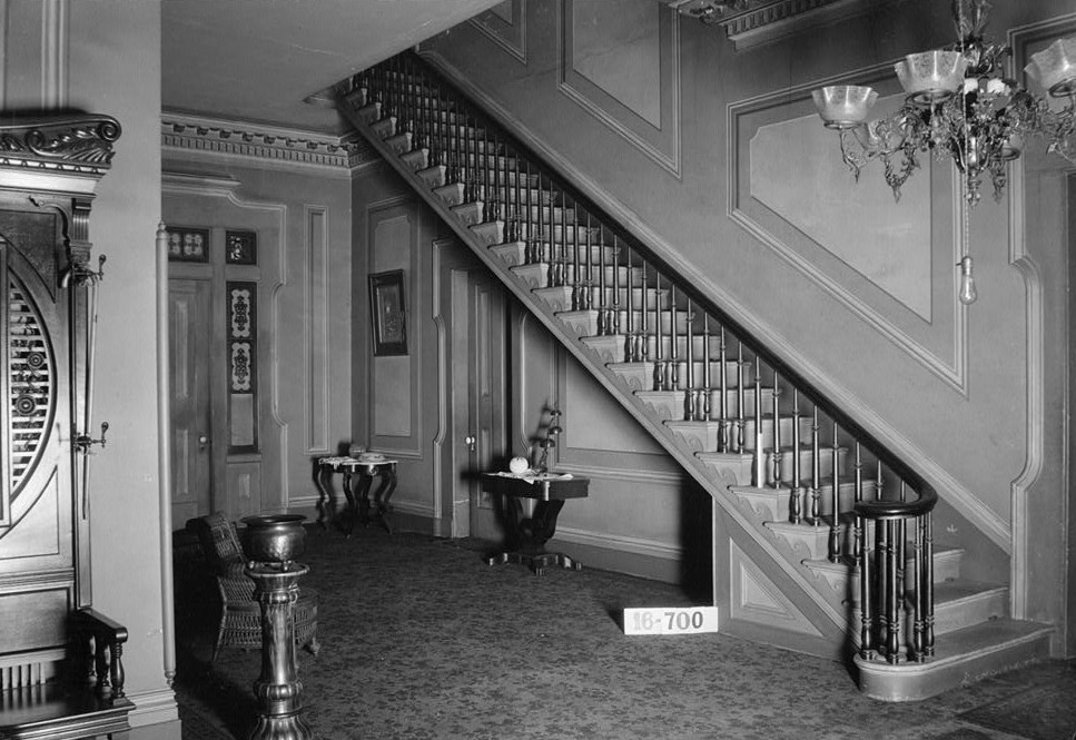 Sturdivant Hall 1934 stairs and hallway toward rear