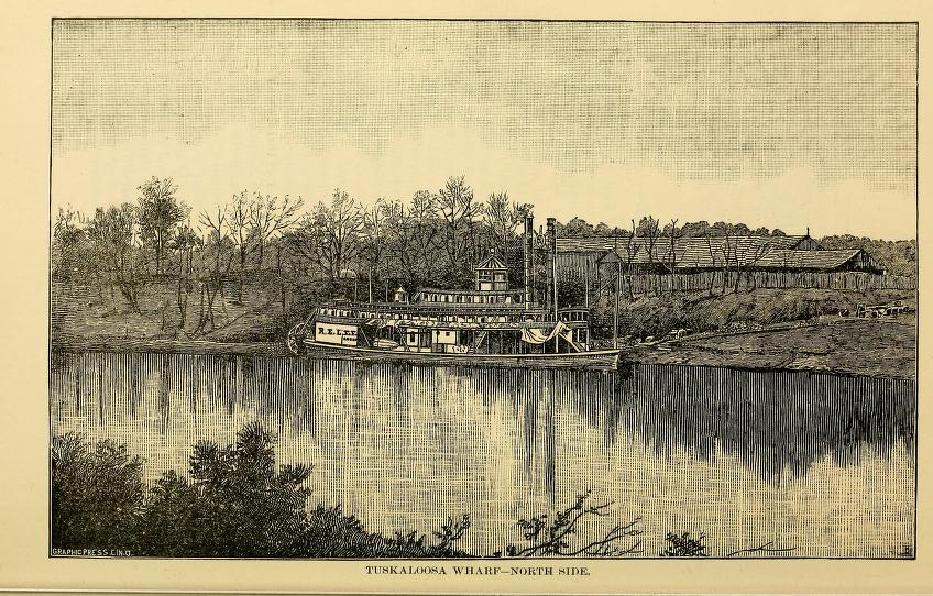This is what Tuscaloosa, Alabama looked like around 1887 [vintage prints]