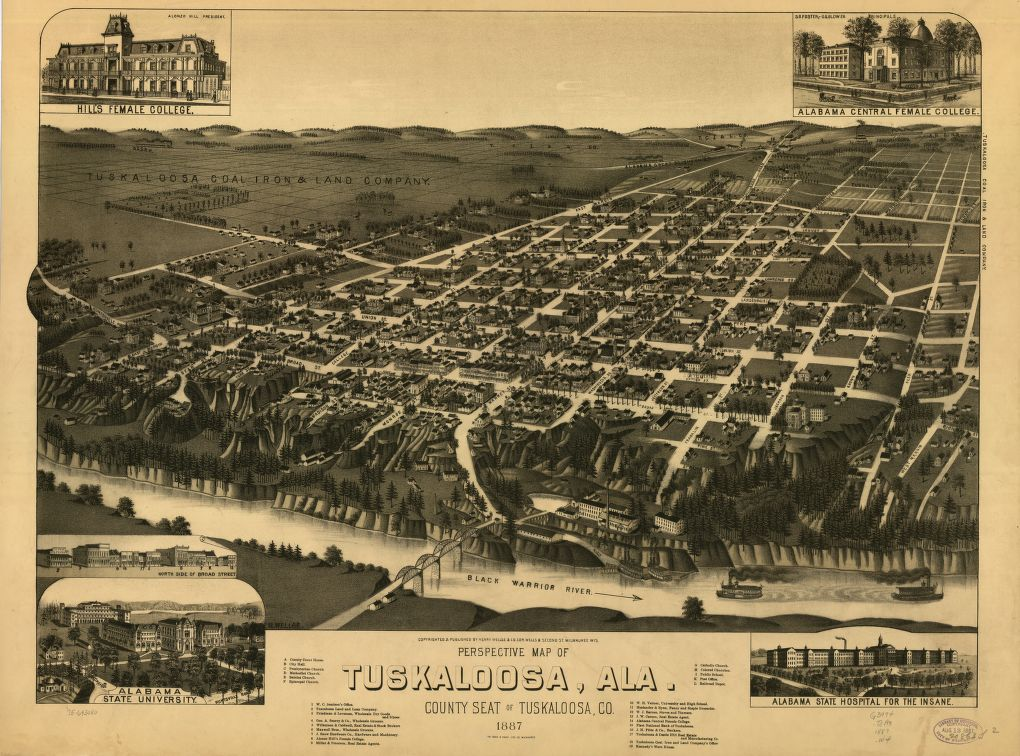 Tuscaloosa perspective map