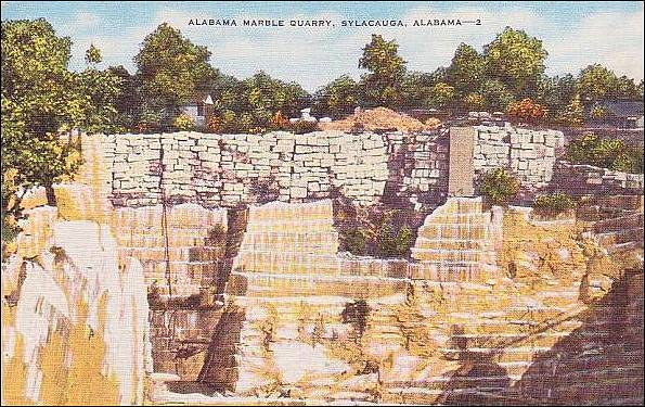 Did you know that Gary Cooper once spoke about the quality Alabama marble in a movie? [see old films & photographs]