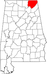 Alabama-map-showing-Jackson-County