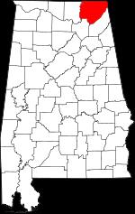 Alabama-map-showing-Jackson-County