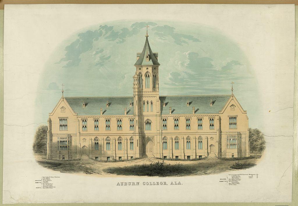 Auburn college postcard 1850