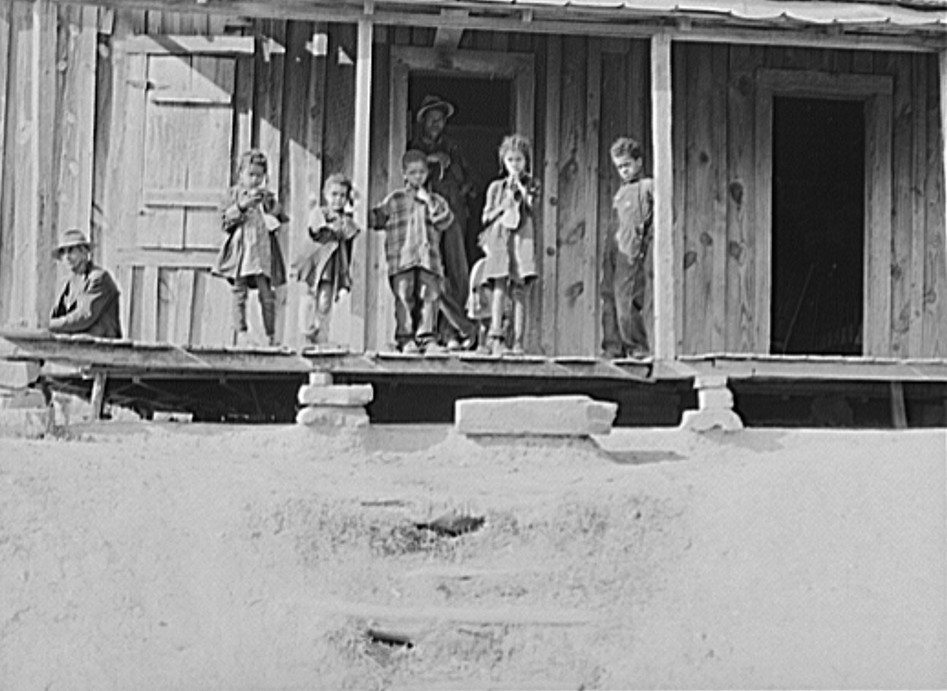 Front porch of sharecropper home. Etowah County, Alabama Dec. 1940 John Vachon