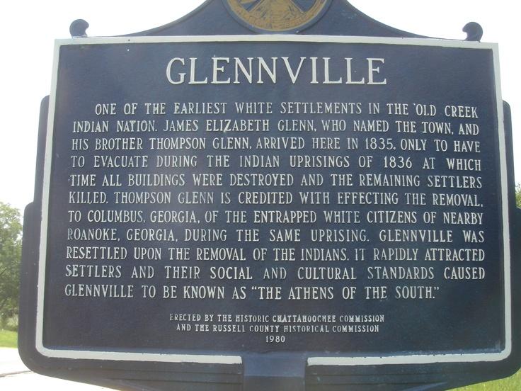 Glennville town marker