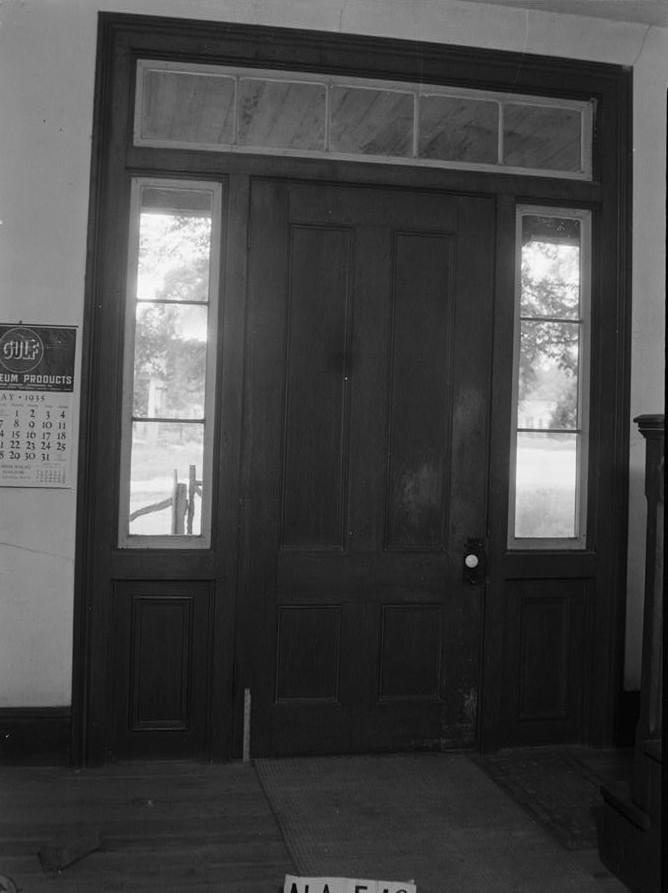 INTERIOR FRONT DOOR TREATMENT - Irwinton Inn, Ferrell's Gardens
