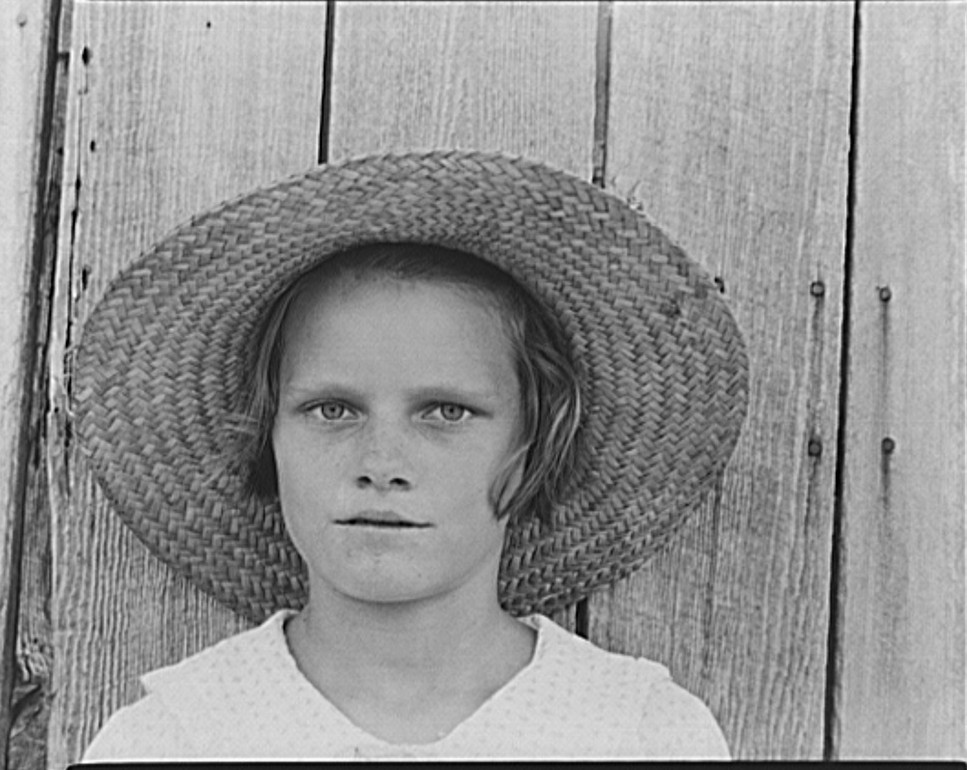 Lucille Burroughs, daughter of a cotton sharecropper. Hale County, Alabama by